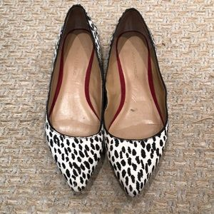 Banana Republic calf hair flats